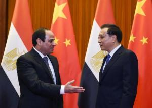 Al-Sisi (links) und Li Keqiang ( rechts)
