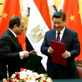Ägyptens Staatspräsident war in China