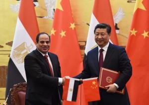 Abdel Fattah al-Sisi (links) und Xi Jinping (rechts)