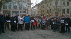Kundgebung in Erlangen am 10. Januar 2015