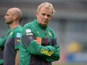 Volker Finke, Hauptübungsleiter der Fussball-Nationalmannschaft Kameruns