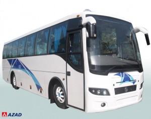 Ein Bus vom indischen Fahrzeughersteller  Azad Coach
