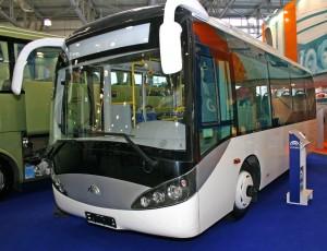 Ein Bus des chinesischen Herstellers Yutong