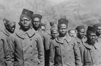 Afrikanische Truppen im zweiten Weltkrieg