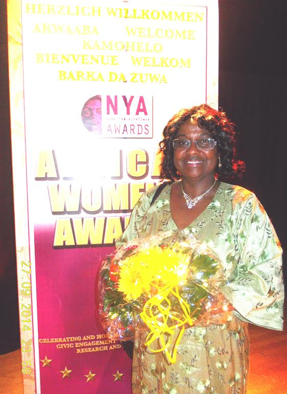Dr. Pierrette Herzberger-Fofana erhält die AGNA - Preisverleihung am 27. September 2014 in Köln.