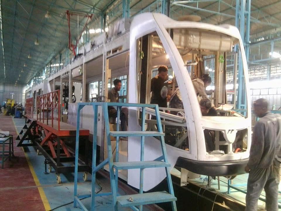 Der äthiopische Konzern MetEC stellt Eisenbahnwagen her.