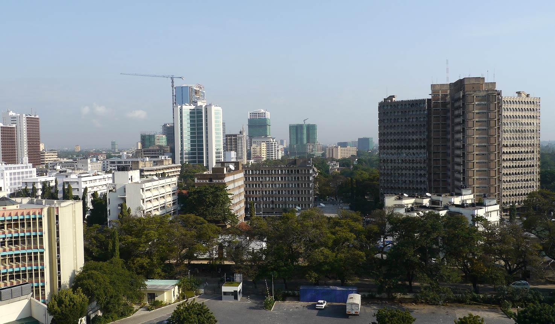 Dar es Salaam, größte Stadt Tansanias.