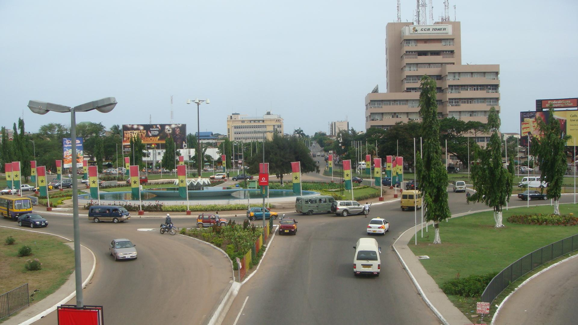 Accra, ghanaische Hauptstadt.