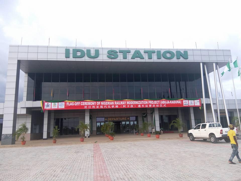 Bahnhof in Abudscha, Bundeshauptstadt von Nigeria.