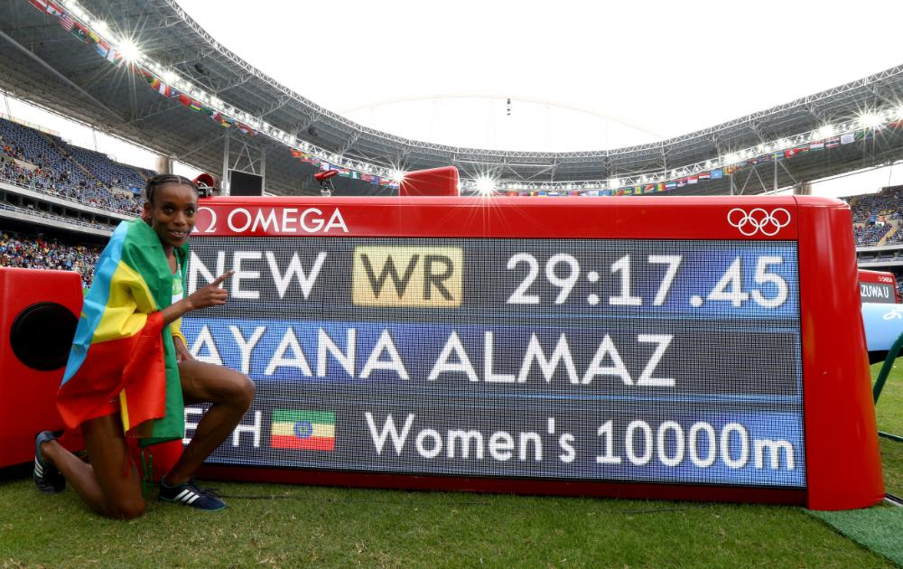 Almaz Ayana am 12. August 2016 in Rio de Janeiro.