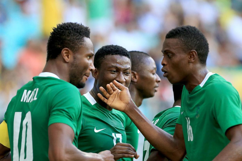 John Mikel Obi ( ganz links) ist der Kapitän der nigerianischen Olympia-Fussballnationalmannschaft.
