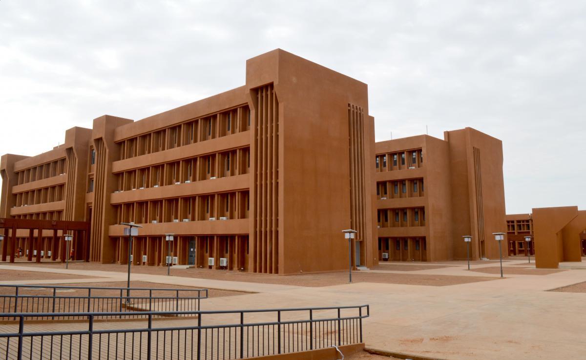 Das von China finanzierte, gebaute und dem westafrikanischen Land Niger geschenkte Allgemeine Referenzkrankenhaus von Niamej.