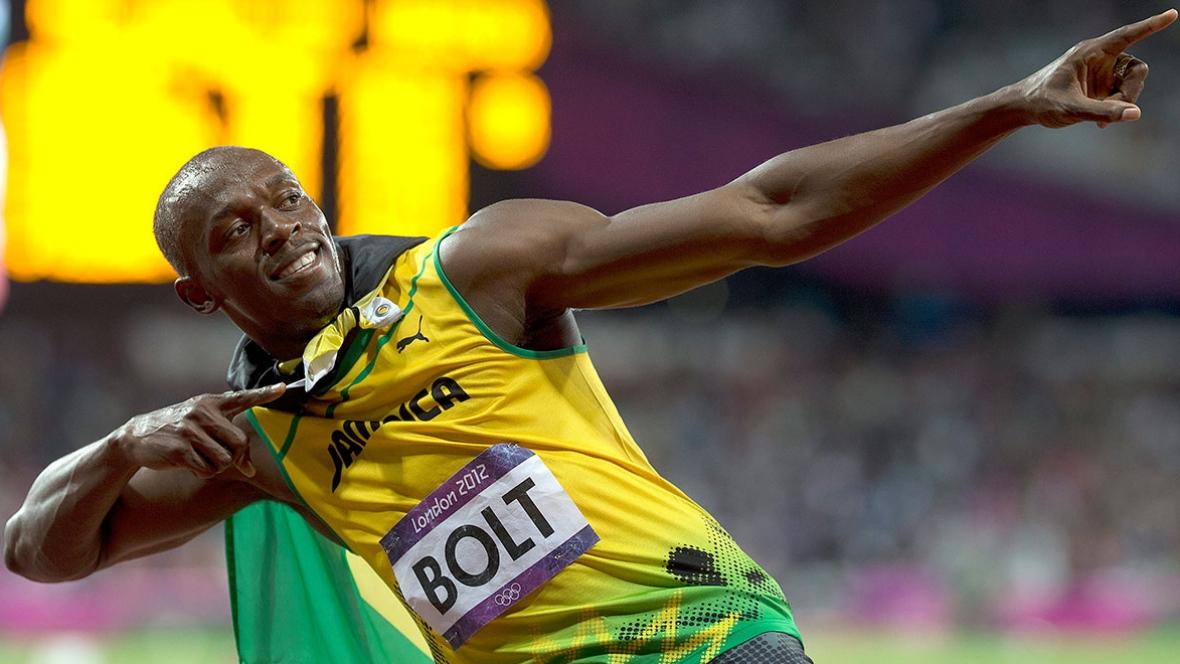 Usain Bolt bei den Olympischen Spielen 2012 in London.