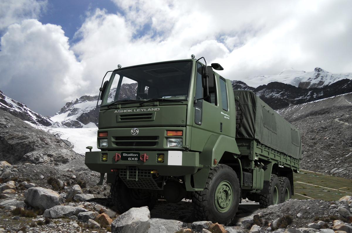 Ein Lastkraftwagen des indischen Fahrzeugherstellers Ashok Leyland.