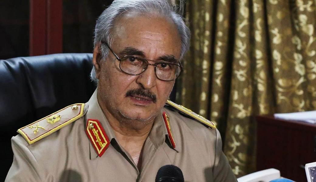 """Generalfeldmaschall Khalifa Haftar kommandiert die """"Libysche Nationalwehr""""."""