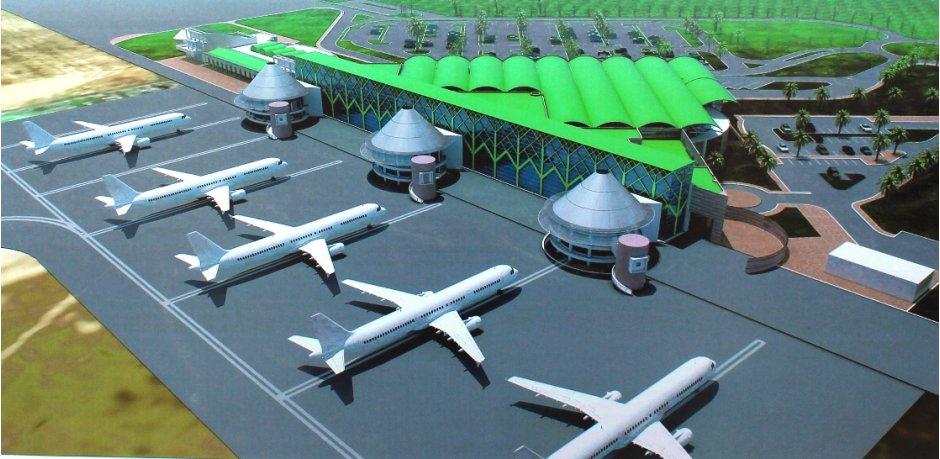 Flughafenmodell von Victoria-Falls-Stadt.